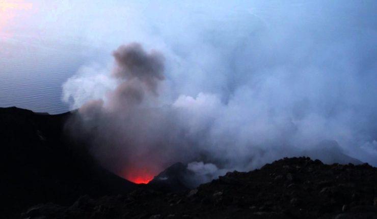 Stromboli erupting - Italy 2015