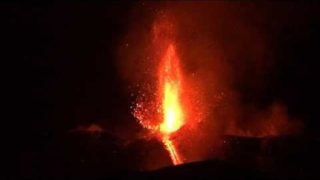 Etna erupting on the evening of 27 February 2017
