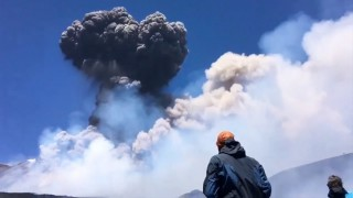 Etna Volcano eruption in Sicily, Italy (July 27, 2019)