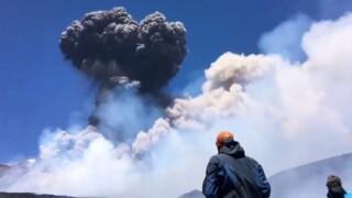 Etna Volcano eruption in Sicily, Italy (July 27, 2019)