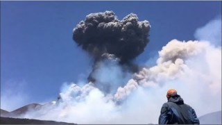 Mount Etna Volcano Eruption - Italy - Jul. 27, 2019